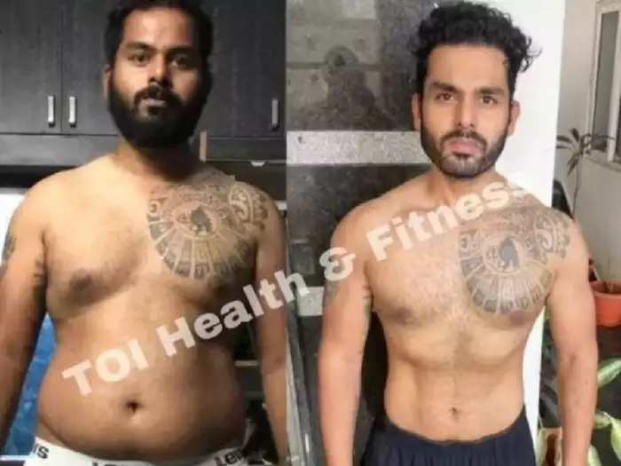 weight loss story of 27 year old guy loss 32 kg with the help of workout and healthy diet