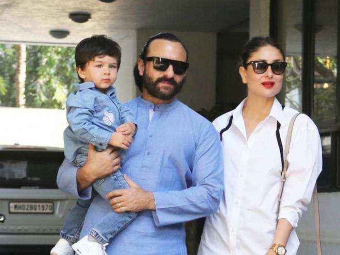 kareena kapoor khan and saif ali khan looks stylish when they attend son taimur annual day