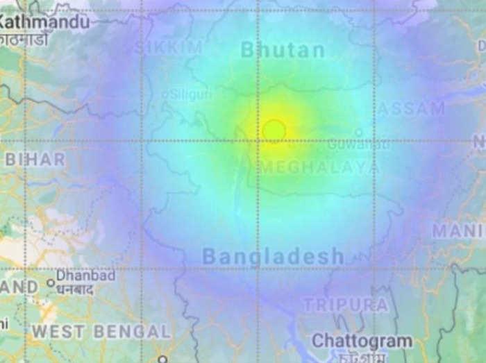 Earthquake tremors in Meghalaya