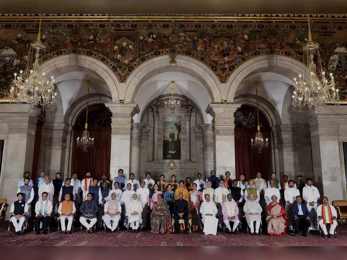 ಕೇಂದ್ರ ಸಂಪುಟ ವಿಸ್ತರಣೆ: ಎಲ್ಲಾ 77 ಸಚಿವರ ಖಾತೆ ವಿವರ ಇಲ್ಲಿದೆ
