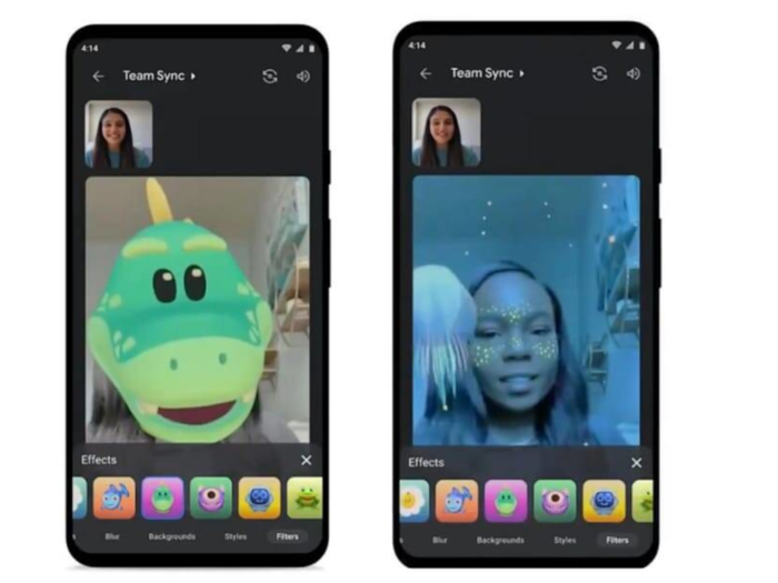 Google Meet Adds AR Masks, Duo-Style Filters Effects check Details