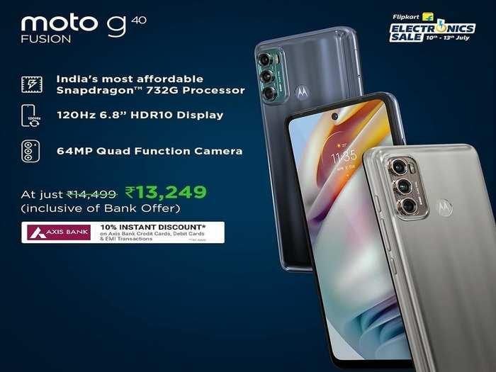 offers On MOTOROLA G40 Fusion in flipkart Electronic sale