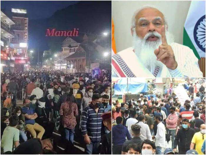 people flouting covid-19 norms at tourist places pm modi warns about third wave