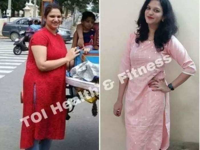 with the help of proper diet plan and exercise, this woman lost 20 kg in 5 months