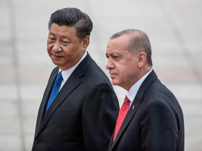 Recep Tayyip Erdogan and Xi Jinping