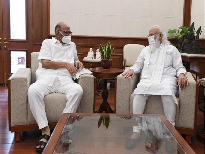 Sharad Pawar with Prime Minister Narendra Modi