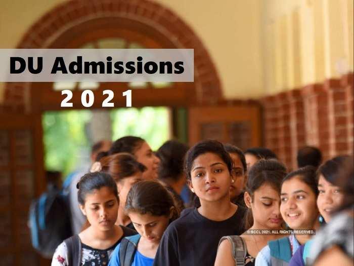 DU Admission 2021: DU admission 2021