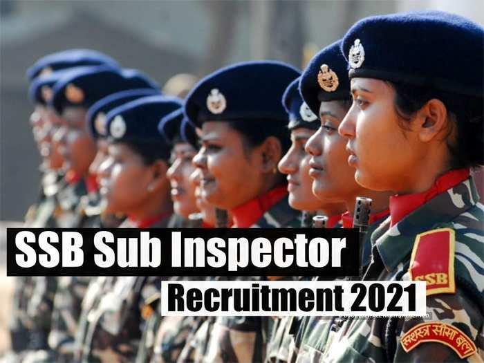 SSB Sub Inspector SI Recruitment 2021