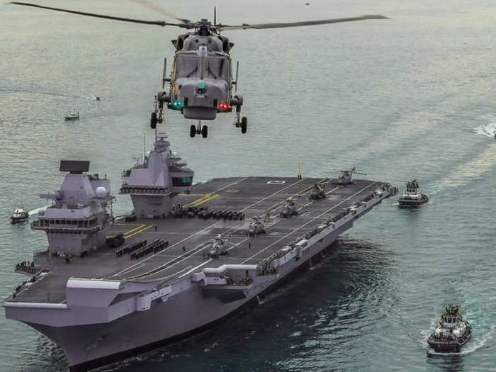 uk carrier strike group hms queen elizabeth in indian ocean south china sea, all you need to know