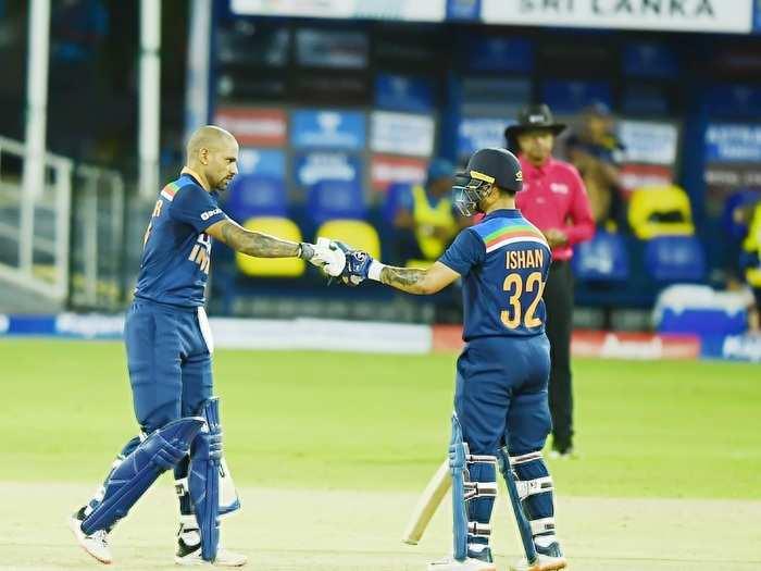 Shikhar Dhawan and Ishan Kishan 1st odi vs sl 2021