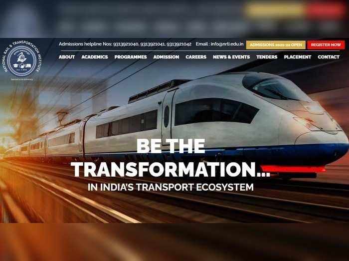 ರಾಷ್ಟ್ರೀಯ ರೈಲು ಮತ್ತು ಸಾರಿಗೆ ಸಂಸ್ಥೆಯಲ್ಲಿ ಉದ್ಯೋಗಾವಕಾಶ: ಅರ್ಜಿ ಆಹ್ವಾನ