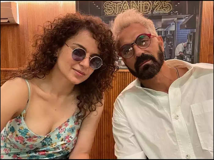 Arjun Rampal shares a cropped picture with Kangana Ranaut