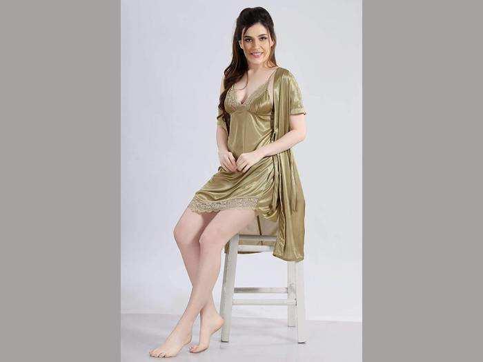 नाइटवियर के लिए बेस्ट ऑप्शन है ये सॉफ्ट और कंफर्टेबल विमेंन नाइट ड्रेस
