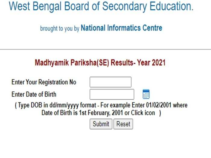 West Bengal 10th Result 2021