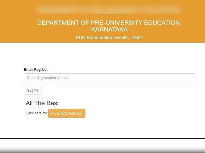 2nd PUC Results 2021 Karnataka