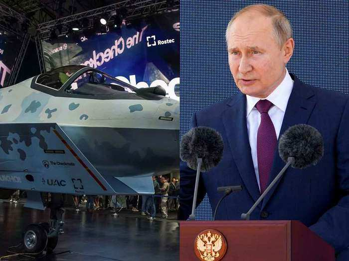 russia unveils new fighter jet sukhoi checkmate to compete with us f 35 offer india too