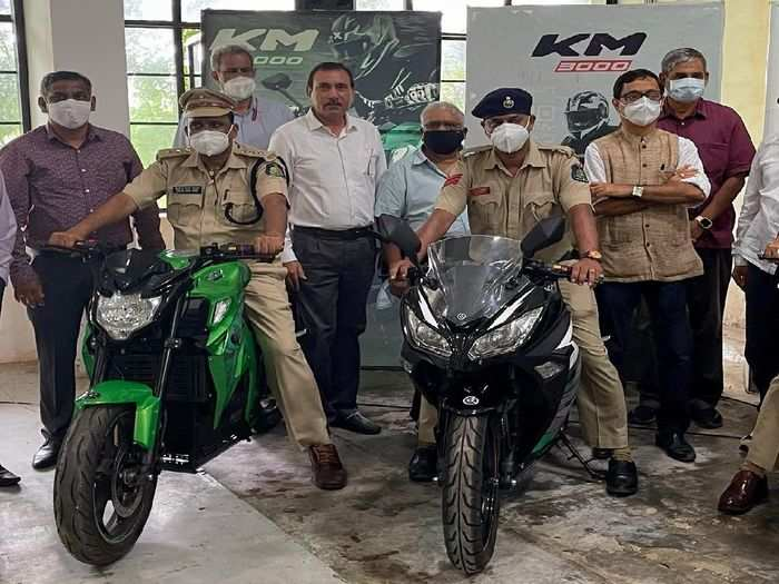kabira electric motorcycles km3000, km4000 delivered to goa police check price and specifications