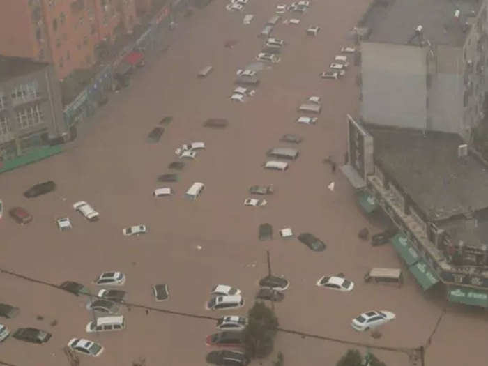 flood in china central chinese province swamped after heaviest rain