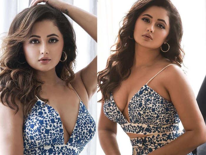 rashami desai looks gorgeous in blue deep neckline dress fans hail her boldest ever avatar