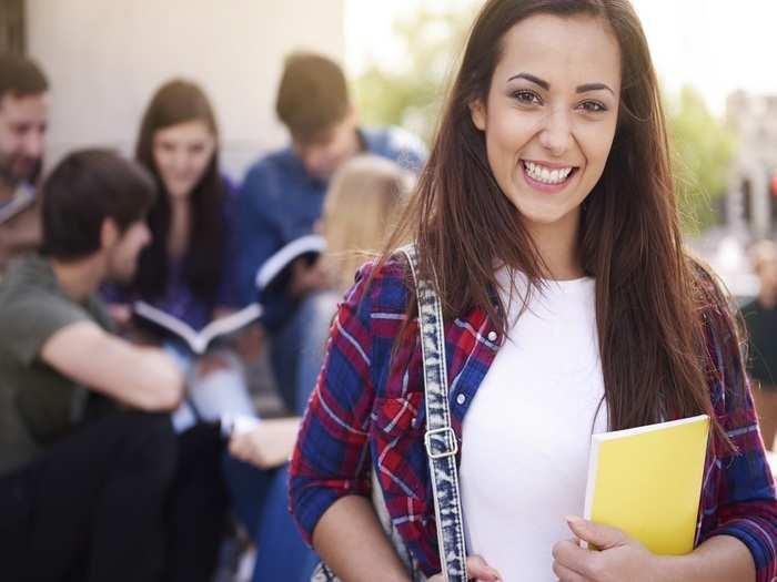smiling-woman-having-break-university