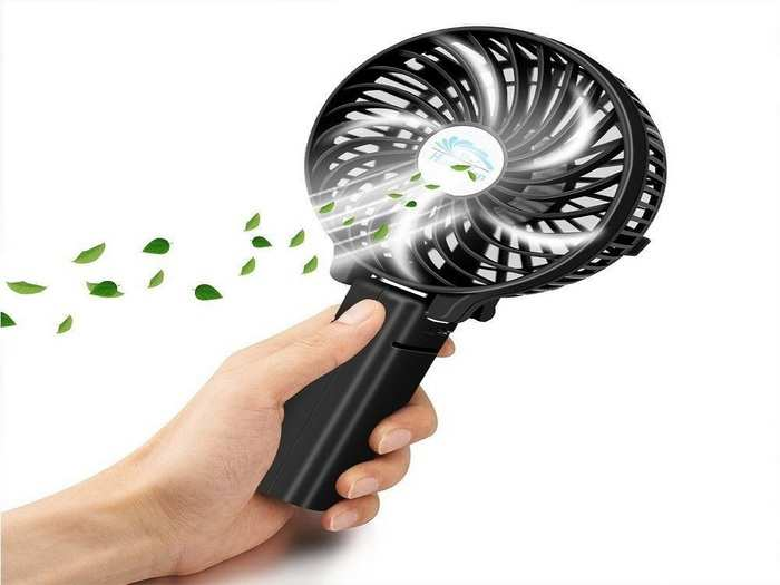 Portable Table Cooling Handheld Rechargeable Fan USB