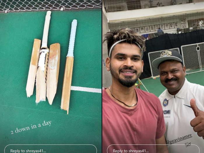 Shreyas Iyer Start Practicing: अभ्यास पर लौटे श्रेयस अय्यर ने एक दिन में तोड़े दो बैट, यूं कर रहे जमकर तैयारी