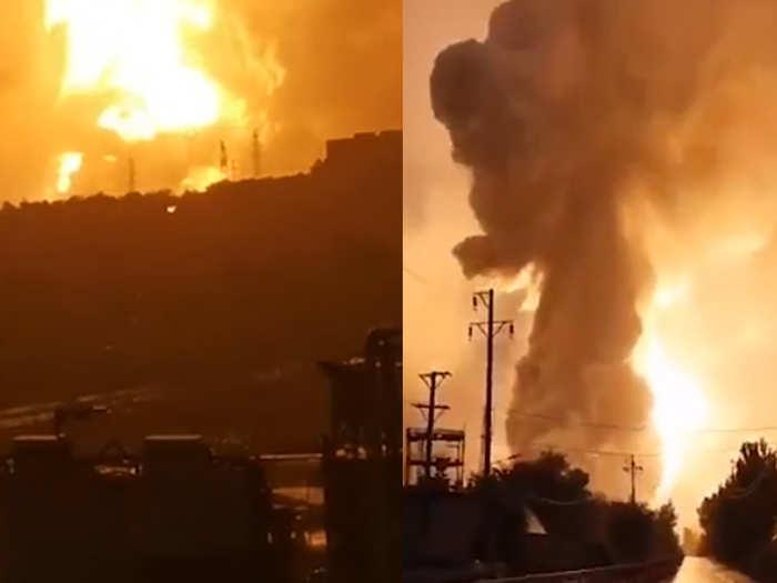 चीन में विस्फोट