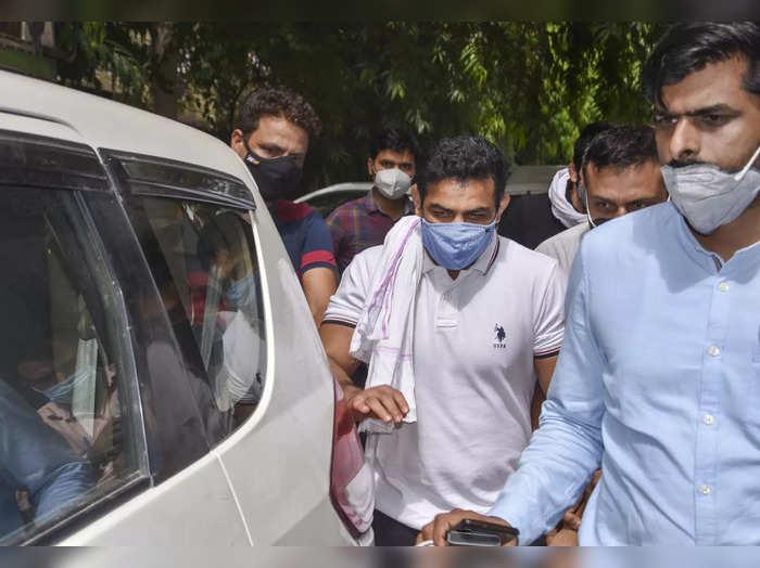 New Delhi: Olympics medal-winning wrestler Sushil Kumar on his way for his appea...