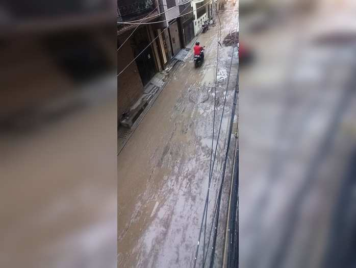 Dabri Extension Roads are become Slippery
