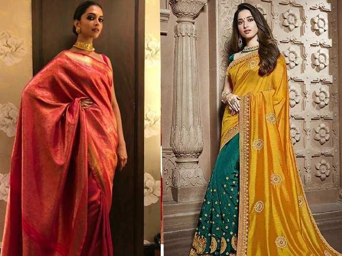 इन खूबसूरत Saree को पहनकर आपको मिलेगा तमन्ना और दीपिका जैसा लुक