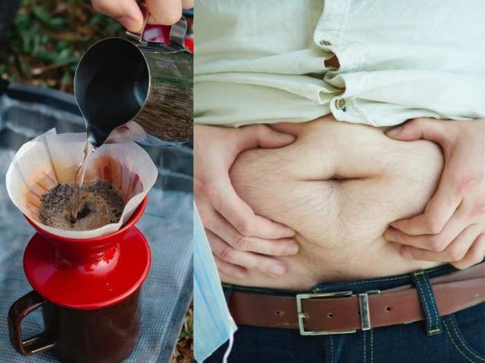 research says caffeine drink can melt belly fat or visceral fat of obese people