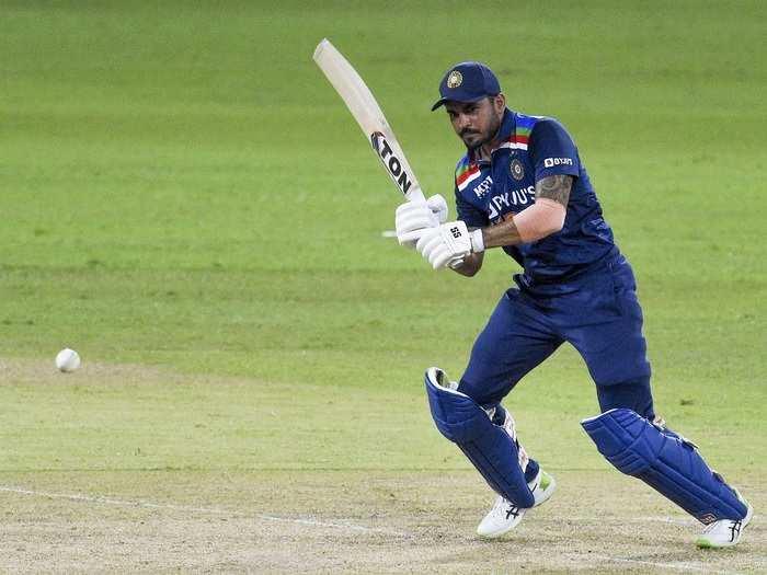 Manish Pandey in ODI vs SL 2021