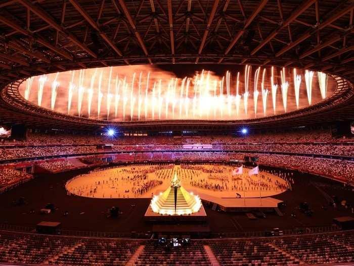 Tokyo Olympics 2020 : टोकियो ऑलिम्पिक उद्घाटन सोहळ्याची क्षणचित्रे