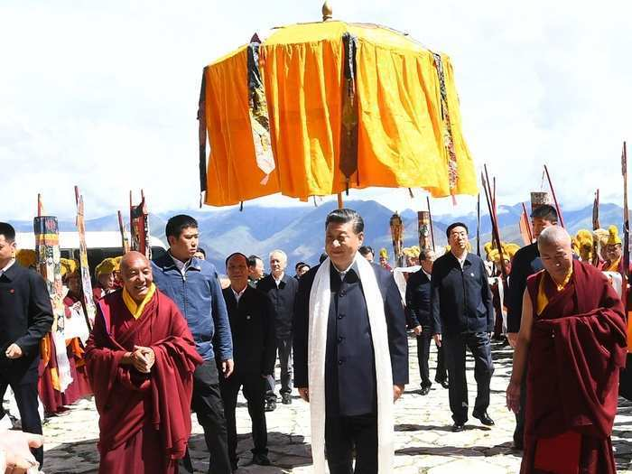 chinese president visit Tibet