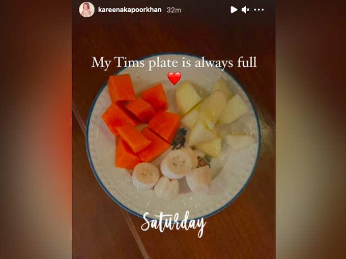 Taimur Breakfast Picture