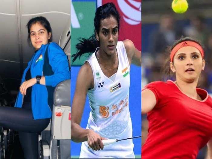 मनु भाकर, पीवी सिंधु और सानिया मिर्जा