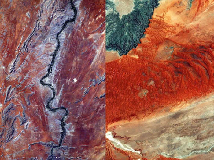 nasa esa share images on instagram asking where are those from mars or earth