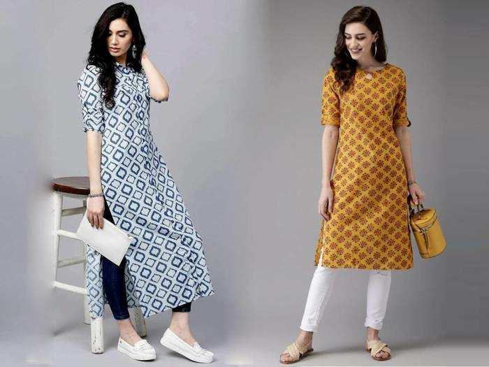 Prime Day Sale में खास ऑफर पर मिल रहे हैं डिजाइनर Womens Kurti