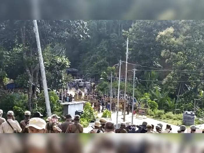 tension along assam mizoram border after violence cms fight on twitter
