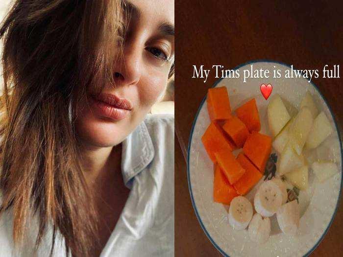 kareena kapoor shared her son taimur breakfast plate image