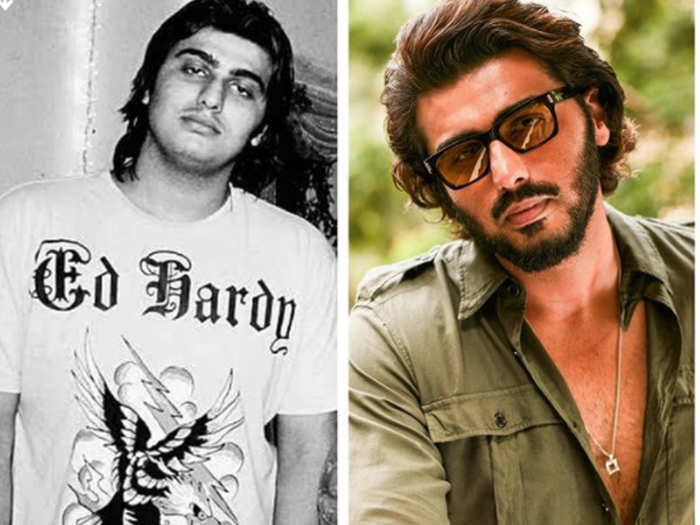Arjun kapoor shares his then and now picture
