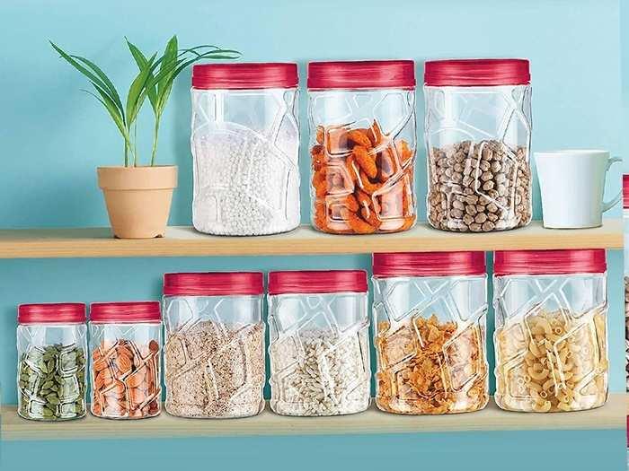 फूड आइटम्स को रखना है सेफ और सीलन मुक्त तो डिस्काउंट पर खरीदें Airtight Storage Jar