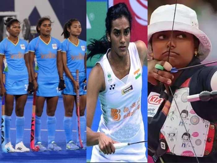 भारतीय महिला हॉकी टीम, पीवी सिंधु और दीपिका कुमारी