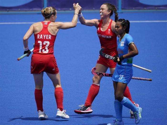 Indian women hockey team: india women hockey team great britain se hari: भारतीय  महिला हॉकी टीम ग्रेट ब्रिटेन से हारी - Navbharat Times