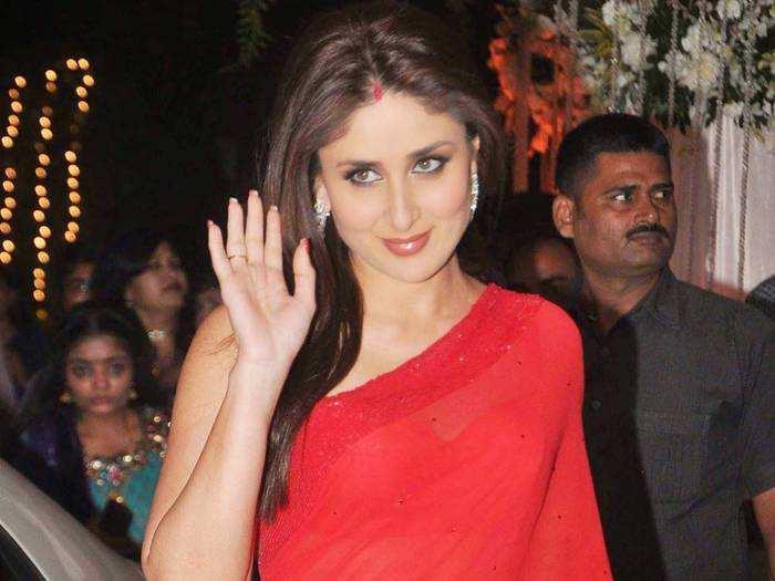 kareena kapoor khan wore red embroidery kurta for armaan jain anissa malhotra wedding roka