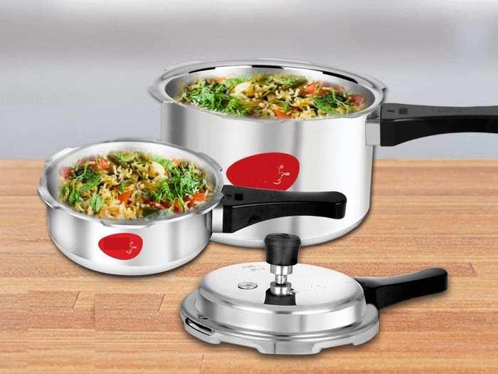मात्र ₹1,699 में मिल रहे हैं 2,3 और 5 लीटर की साइज वाले इंडक्शन कंपैटिबल Pressure Cooker