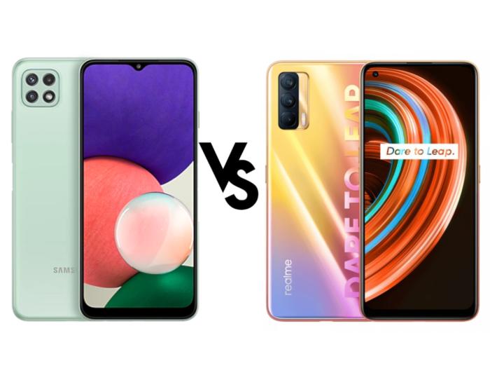 Samsung Galaxy A22 5G vs Realme X7 5G