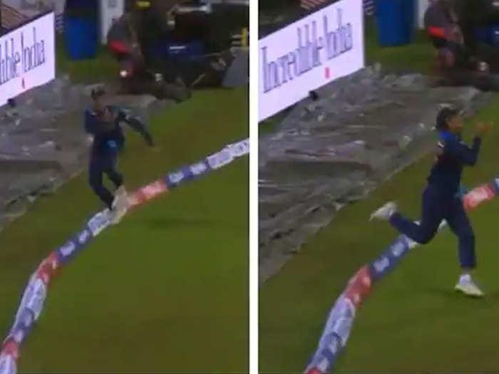 Rahul Chahar Super Catch: भुवनेश्वर की गेंद पर राहुल चाहर ने लपका अद्भुत कैच, अंपायर भी दिखे हैरान