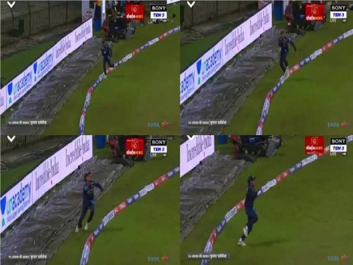 Rahul Chahar Catch IND vs SL