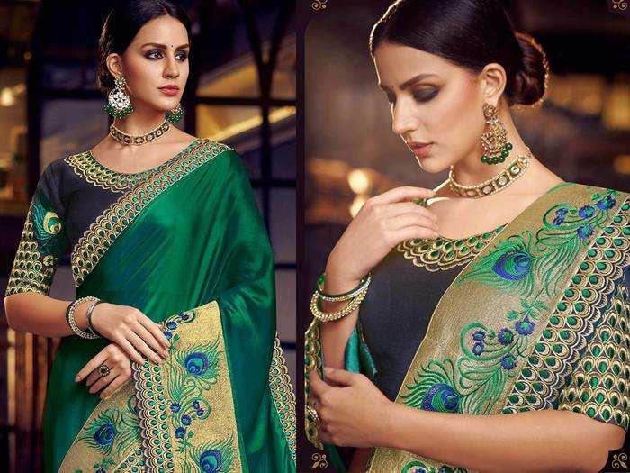 इन खूबसूरत Festive Wear Saree को पहनकर आप लगेंगे सबसे ज्यादा अट्रैक्टिव, पड़ोसन भी करेंगी खूब तारीफ